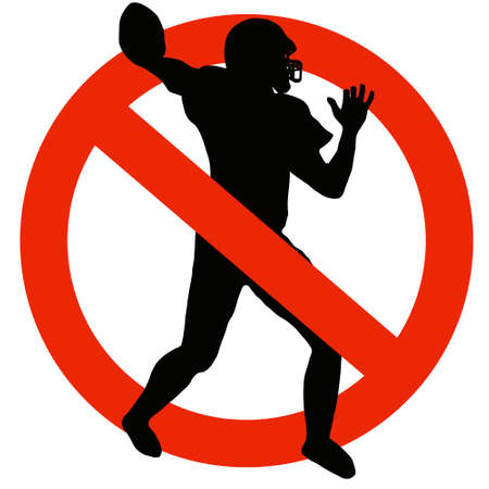 No Football Allowed on Traffic Prohibition Sign photo