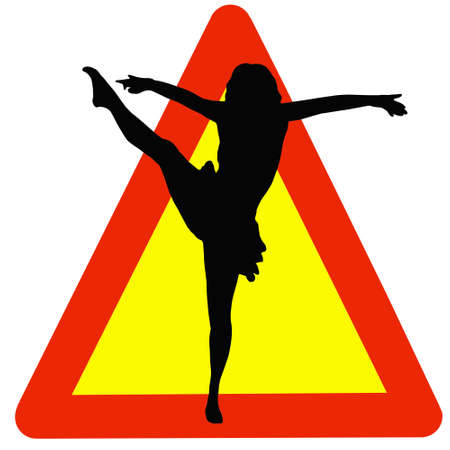 Warning Dancing Allowed Here on Traffic Sign photo