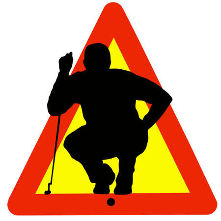 Warning Golf Played Here on Traffic Sign photo