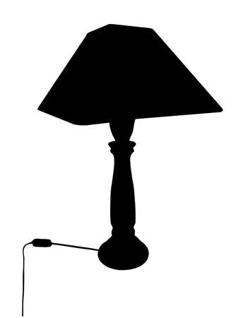 Illustration of Bed Lamp Silhouette Isolation Stock Vector - 13397526