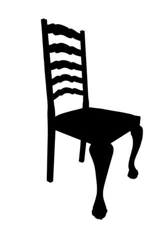 mesa de comedor: Ilustraci�n del aislamiento del antiguo Presidente Mesa de comedor Silueta