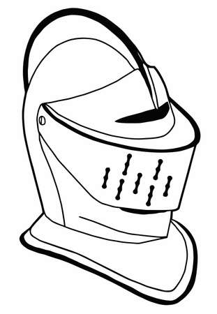Isolated Full Face 16th Century War Helmet
