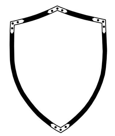 Izolowane 16th Century Uroczyste lub wojna Shieldr