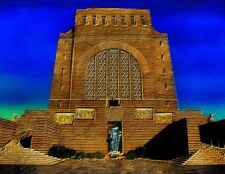 boer: Imagen 3D de la Voortrekker Monumento Pretoria Sud�frica Foto de archivo