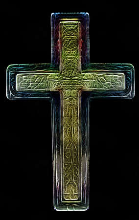 revive: 3D Two Layered Isolated Christian Cross Art Illustration