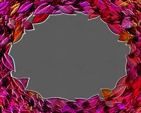 circlet: 3D Isolated Framed Autumn Leaves Circlet with Text Space