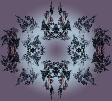 lair: Abstract Fractal Art Devils Lair on Purple Background  Stock Photo