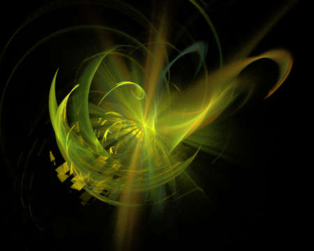 Abstract Fractal Art Space Twirl Explosion  on Black Background Stock Photo - 15499553