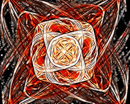 spiraling: Abstract Spiraling Orange Mosaic Rays Image Background
