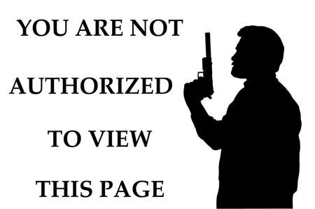 Threatening Not Authorized to View Page Internet Notice Stock Photo - 17007992
