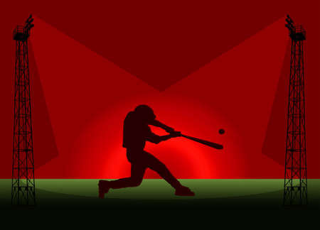 Baseball Tower Flood Light Promotional Poster Illustration illustration