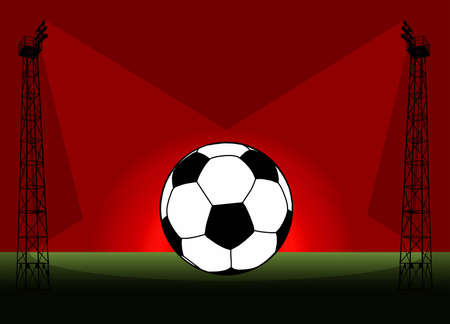 Soccer Football Tower Flood Light Promotional Poster Illustration illustration