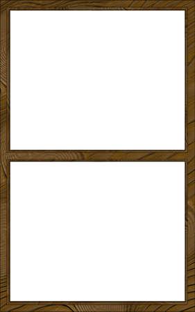 contoured: Aislado doble capa de madera contorneada Dos Window Frame