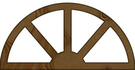 contoured: Aislado Wide contorneada marco arqueado Ventana de Madera Foto de archivo
