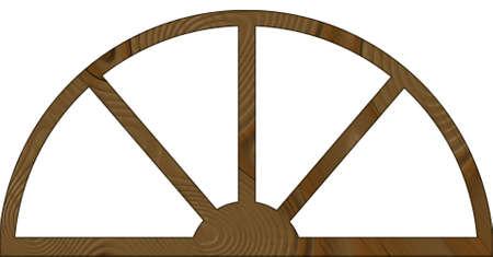 contoured: Aislado Narrow contorneada marco arqueado Ventana de Madera