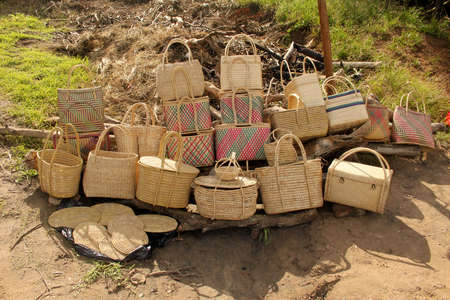 kwazulu natal: Picture of Hand Woven Cane Baskets for Sale