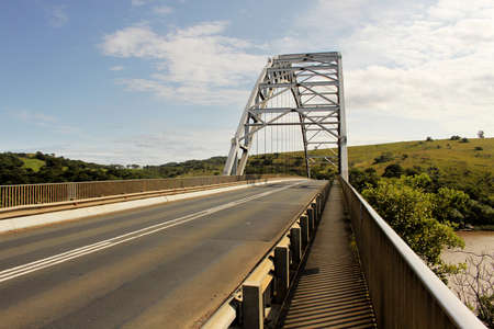 kwazulu natal: Picture of the Arch Bridge Over Mtamvuma River