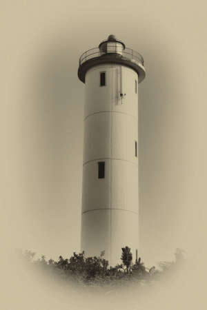 Sepia Close-up of a Lighthouse During Daytime photo