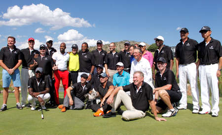 ALL PLAYERS  - NOVEMBER 17: Celebrity Player at Gary Player Charity Invitational Golf Tournament  November  17, 2013, Sun City, South Africa. Group photo
