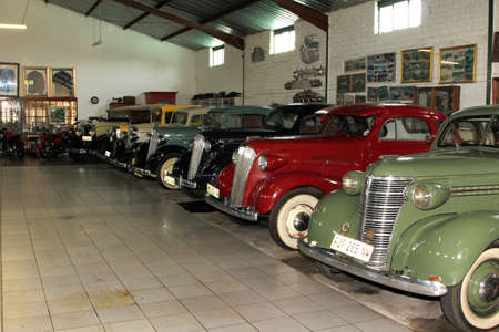 motorcars: RUSTENBURG, SOUTH AFRICA - FEBRUARY 15: Display Room with Vintage Chevrolet Motorcars in Private Collection Philip Classic Cars on February 15, 2014 in Rustenburg South Africa. Editorial