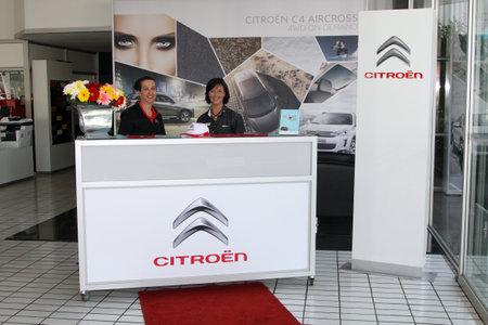 rustenburg: Rustenburg, South Africa - September 27: Citroen Dealer Rustenburg having a Drive Day for public to test drive the new Picasso C4, on September 27, 2014 in Rustenburg. Citro?n Show Room Reception.