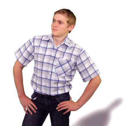 teenaged boys: Teen boy body language expressions - Self Assured Confident
