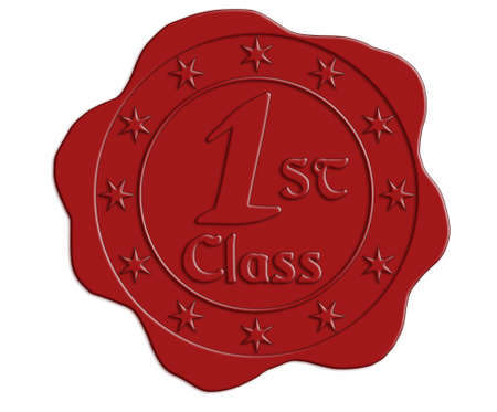 white achievement: First Class Red Wax Seal with Stars