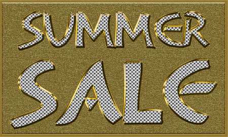 reduced value: Summer Sales Seasonal Tag in Gold and Diamonds