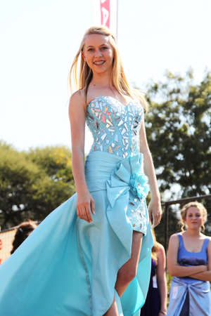 pageant: THABAZIMBI, SOUTH AFRICA - JUNE 28: Teen Girl Beauty Pageant at Wildsfees (Game Festival) on June 28, 2014 in Thabazimbi South Africa.