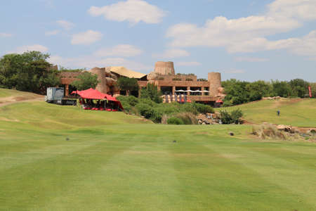lost city: LOST CITY CLUB HOUSE - NOVEMBER 15: During Gary Player Charity Invitational Golf Tournament as on November 15, 2015, Sun City, South Africa