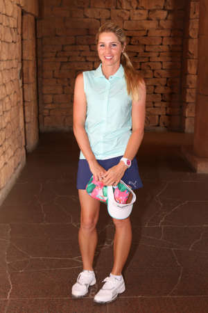 montgomery: MONTGOMERY, DANIELLA - NOVEMBER 15: Pro Golfer Playing at Gary Player Charity Invitational Golf Tournament posing for picture on November 15, 2015, Sun City, South Africa.