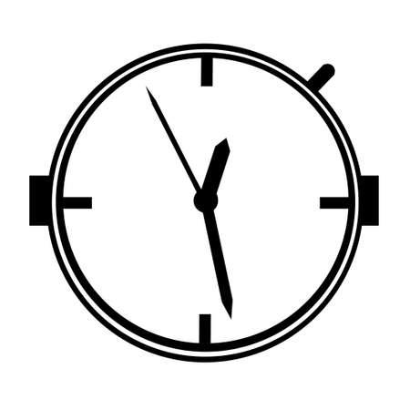 Black and White Clock Bomb Timing Device Illustration Stock Photo