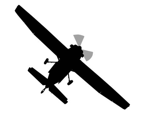 Bottom profile silhouette of X328 Atlas Angel Turbine skydiving equipped aircraft