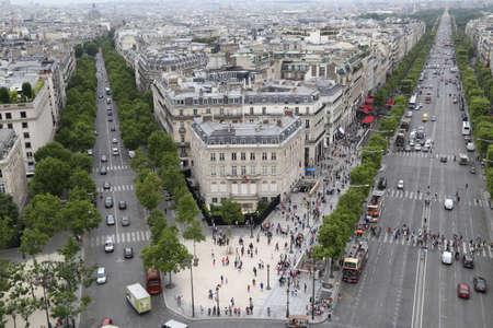 des: Paris France Avenue des Champs-lyses View