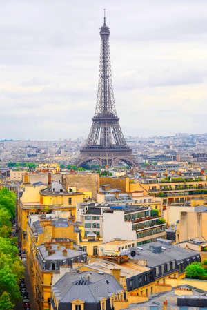 vue ville: Paris France Tour Eiffel Vue sur la Ville color�