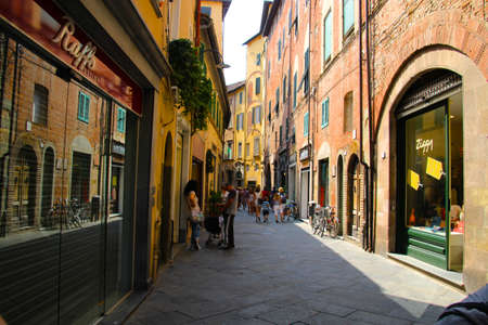 lucca: Lucca Italy City Streets Editorial