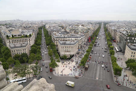 des: Paris France Avenue des Champs-lyses View