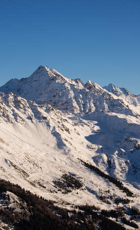 ski runs: The slopes above Verbier, Switzerland and the ski area.