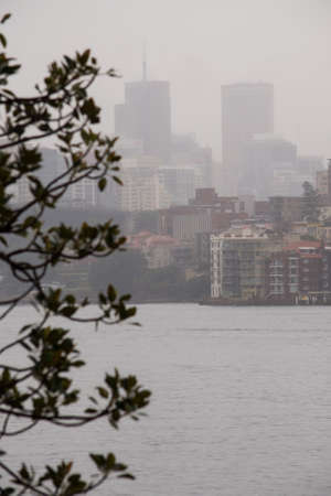 high rise buildings: High rise buildings in Sydney on an overcast day. Stock Photo