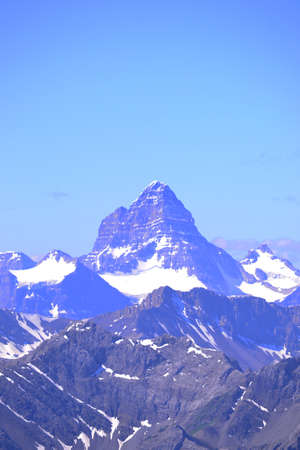 canadian rockies: Portrait profile of Mount Assiniboine in the Canadian rockies.