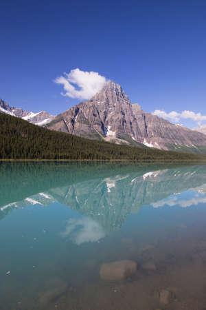 banff national park: Portrait view of Mount Chephren in Banff national park.