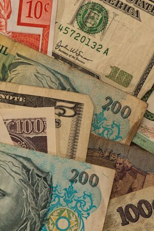 Banknotes collected while on holidays Banco de Imagens