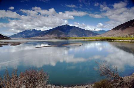 vigorous: The sacred river scenery view