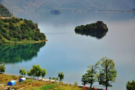 leisurely: Lugu lake view