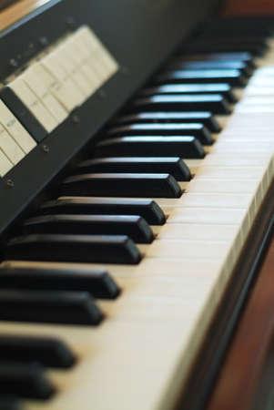 antieke elektrische piano Stockfoto
