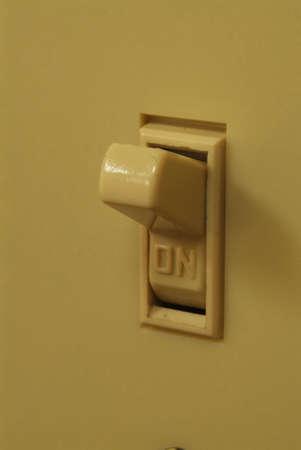light switch ON 版權商用圖片