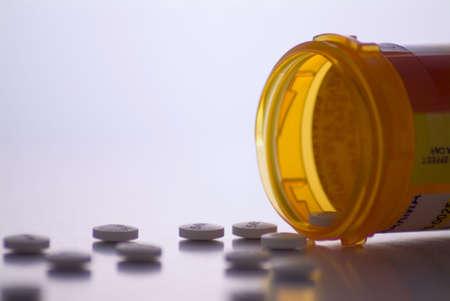 row of prescription drug bottles