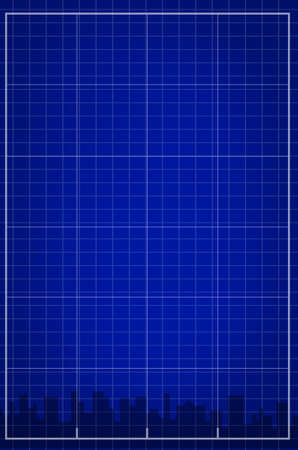 illustration of city grid Banco de Imagens