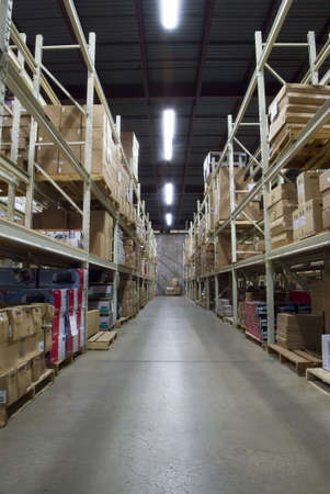wide angle view of large warehouse facility