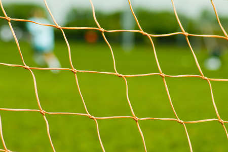 soccer net: close up of soccer net Stock Photo